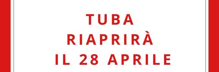 Tuba ha riaperto la libreria il 28 aprile