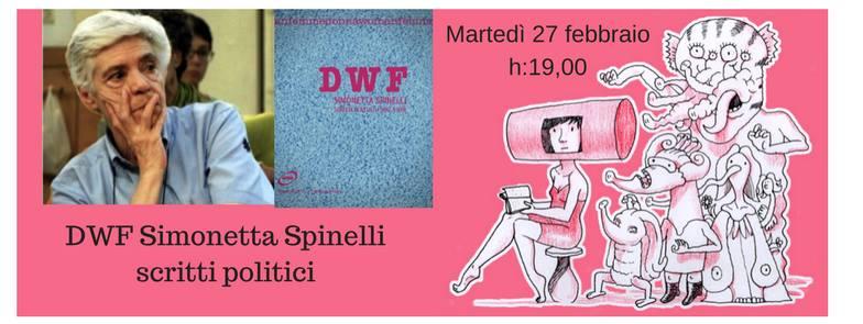 27 febbraio presentazione DWF su Simonetta Spinelli