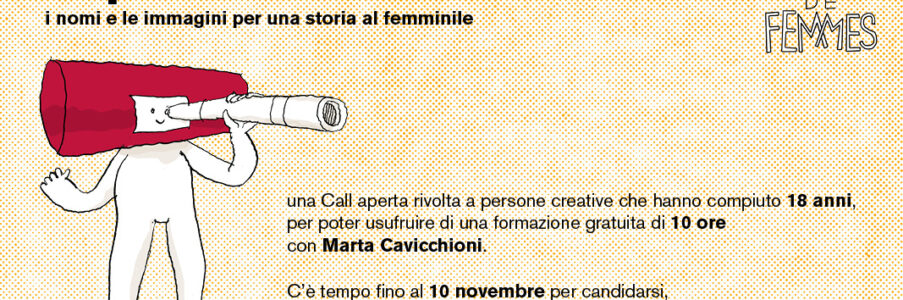 Bande de Femmes Toponomastiche: iscrizione laboratorio fino al 10 novembre