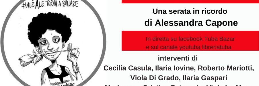 14 febbraio: una serata dedicata ad Alessandra Capone